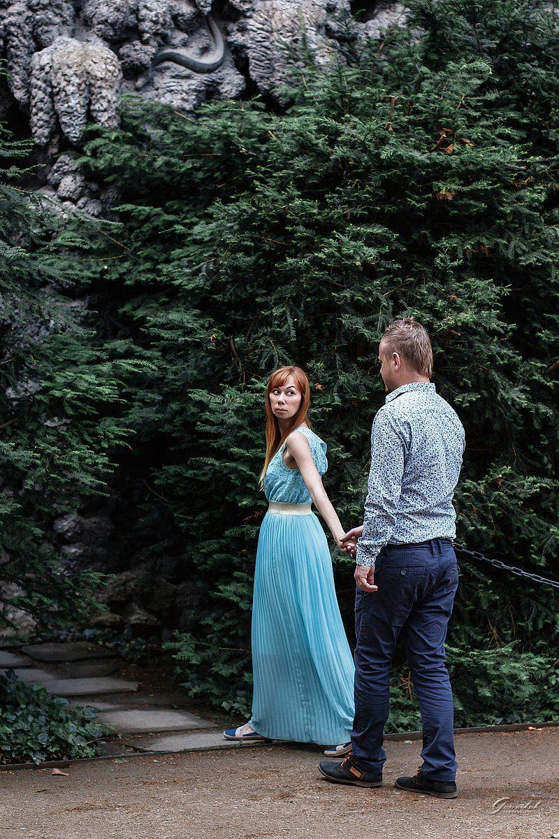 Красивая фотосессия в Пражских садах