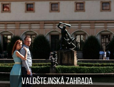 Couple photoshoot in the Wallenstein Garden