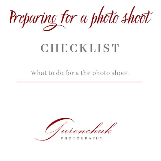 Checklist №1 Preparing for a photo shoot