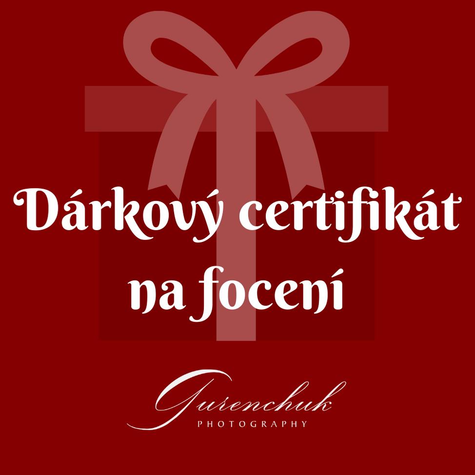 Elektronický dárkový certifikát na focení